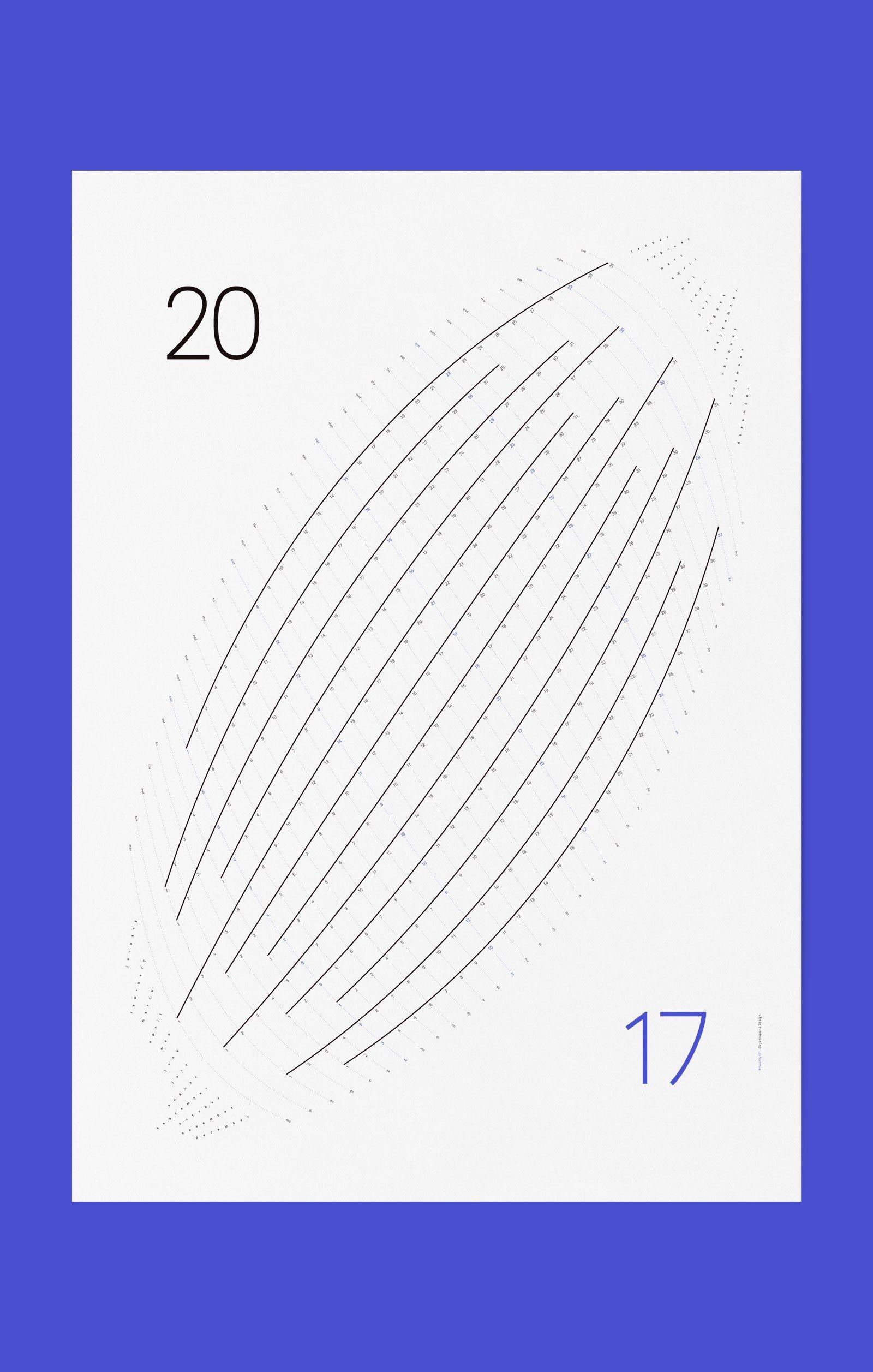 #Designkalender 2017 Wandkalender »Twenty17. Rise« © Sebastian Jakl von Skyscraper J Design, Wien
