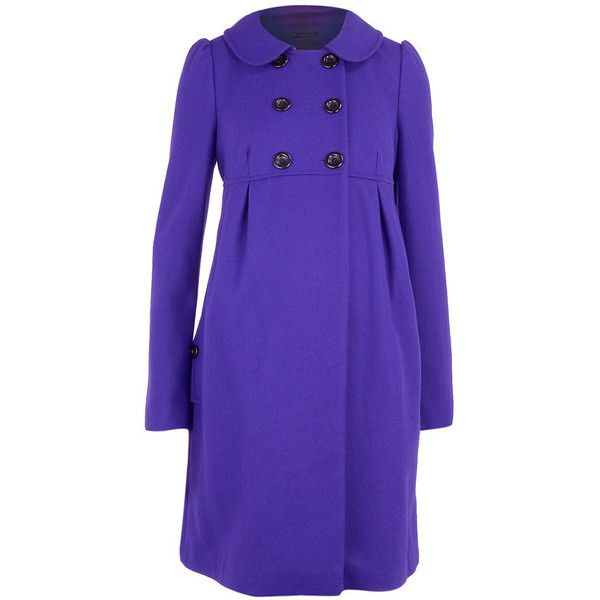 Maternity violet empire coat ($96) via Polyvore