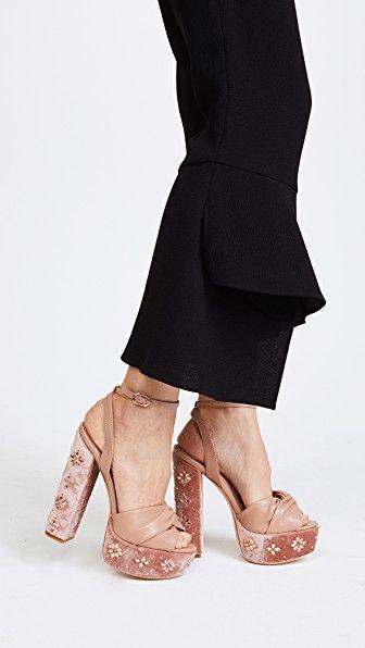 2b97ff9b66b Rachel Zoe Claudette Crystal Platform Sandals