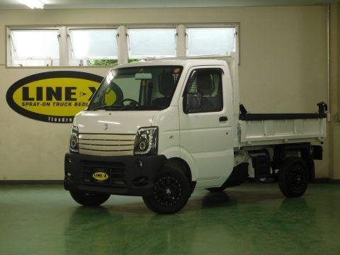 軽トラカスタム キャリートラック ダンプをline X塗装カスタム Suzuki Cary Truck Da 63 ダンプ 荷台 軽