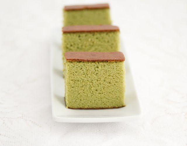 Matcha Green Tea Castella Cake Recipe Tea cakes, Green
