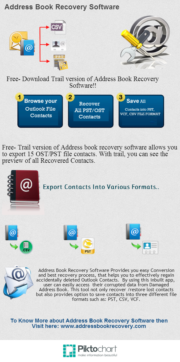 view info graphic images of advance address book recovery software