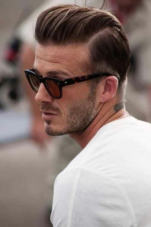 David Beckham Clean Pompadour Hairstyle
