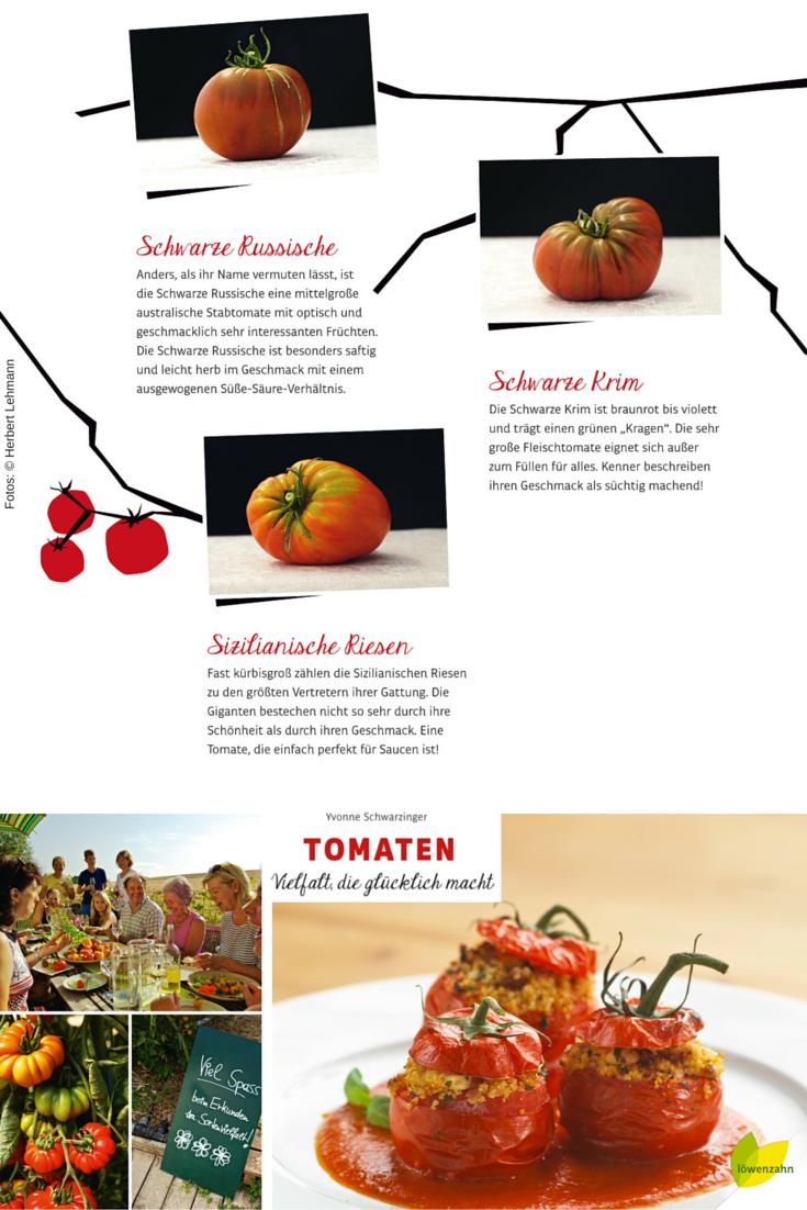 Ochsenherzen und Grüne Zebras - garantiert vegetarisch! Alles über die beliebtesten Tomatensorten findet ihr in Yvonne Schwarzingers Tomaten-Kochbuch!