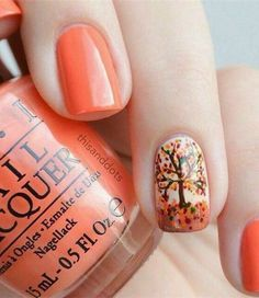 20 Fantastic Nail Designs for Thanksgiving: #15. Stylish Nail Design For Fall