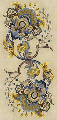 Cool website with crewel embroidery info and patterns. *it has been 4ever since I 'needled' fabric, instead of people!lol Beautiful piece. jn