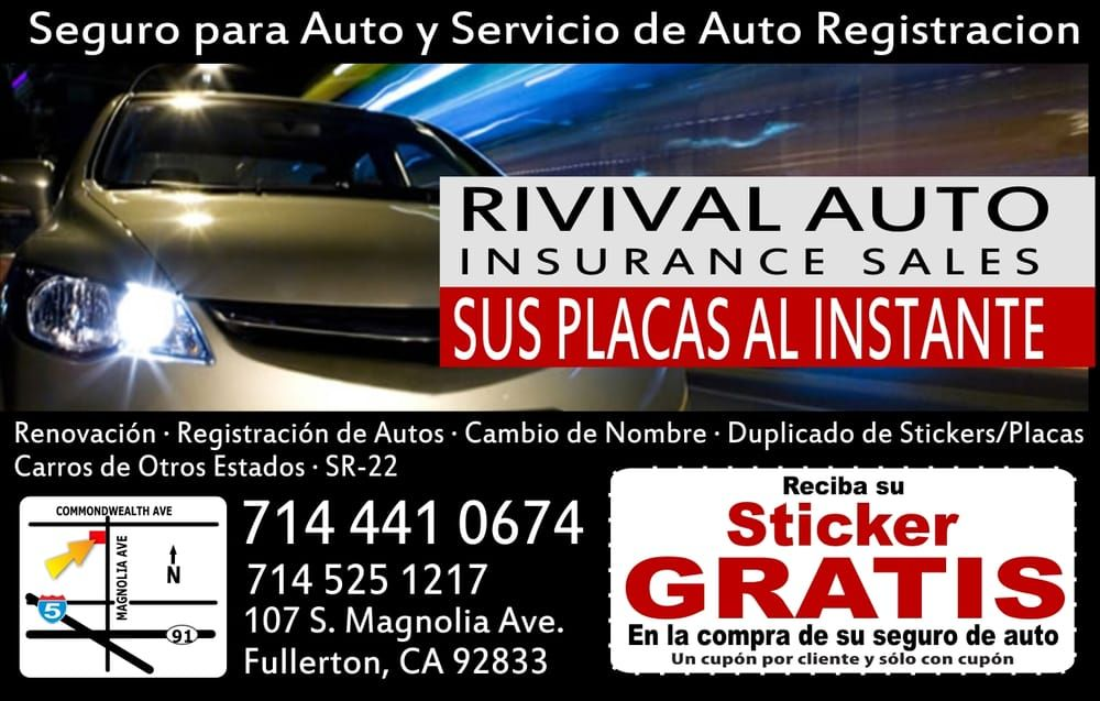 Revival Auto Insurance Sales Auto Insurance Fullerton