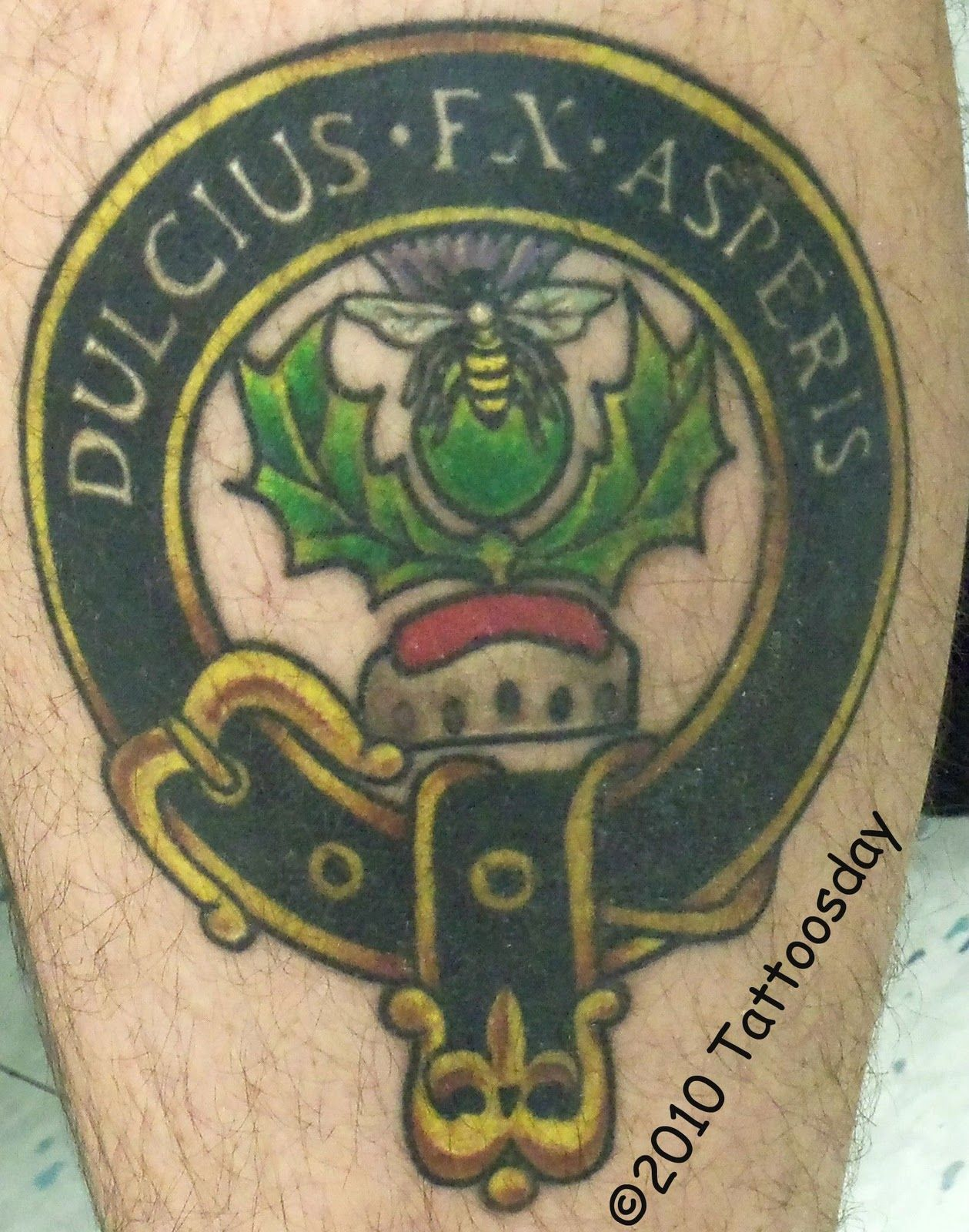 8603c25cf Clan motto tattoo :) #tattoo #tattoos #ink #family #crest #coatofarms  #heraldry #genealogy #shield