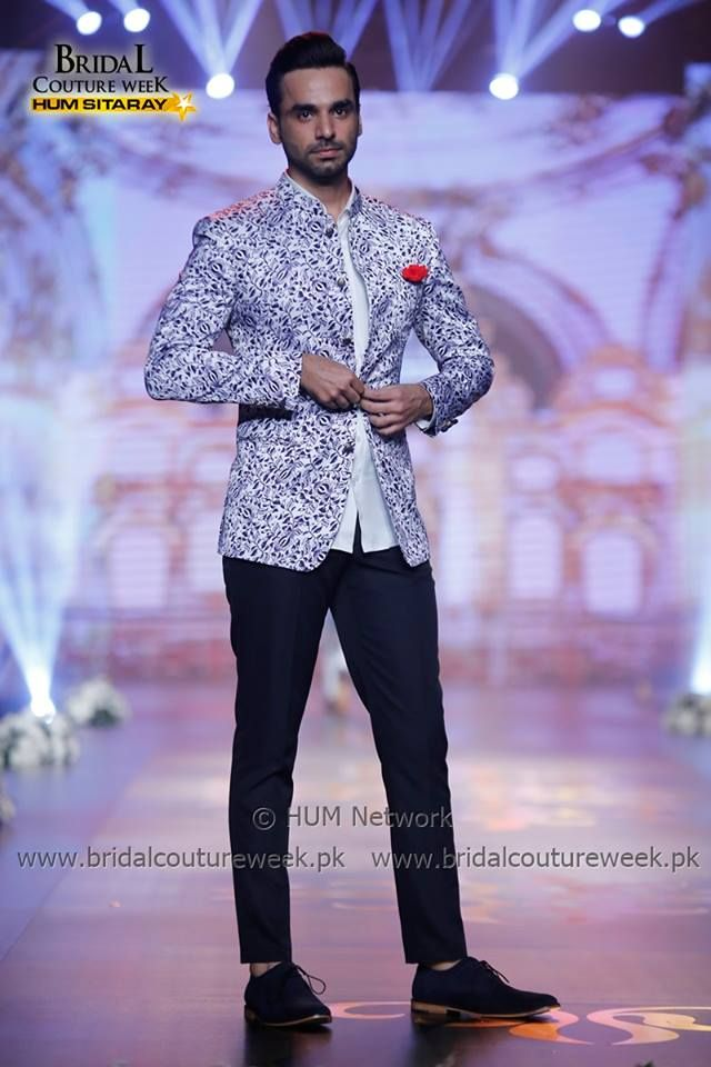Printed jacket by amir adnan formal dress for men