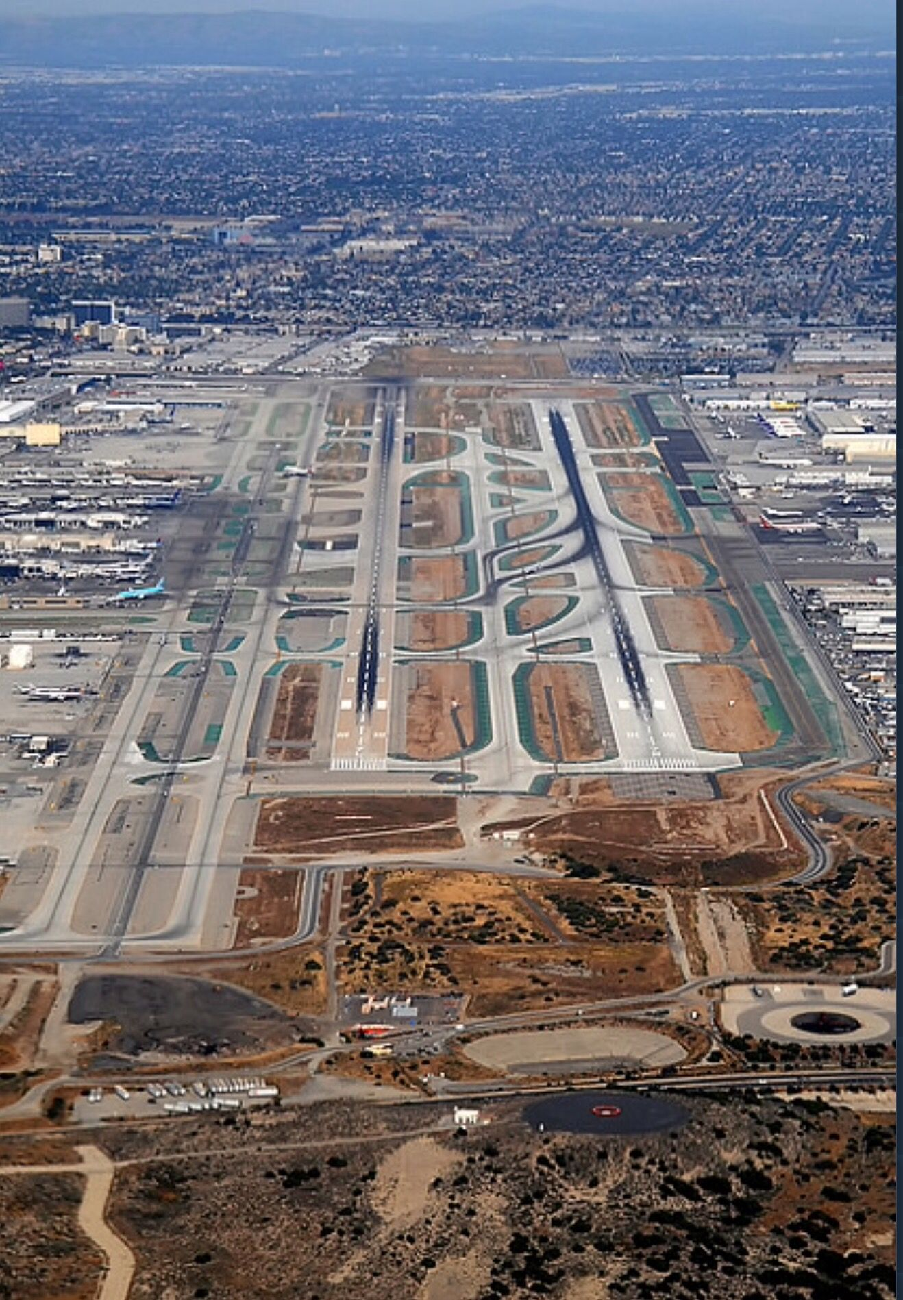 Lax Runways Aerial View Aviation Aircraft Pictures