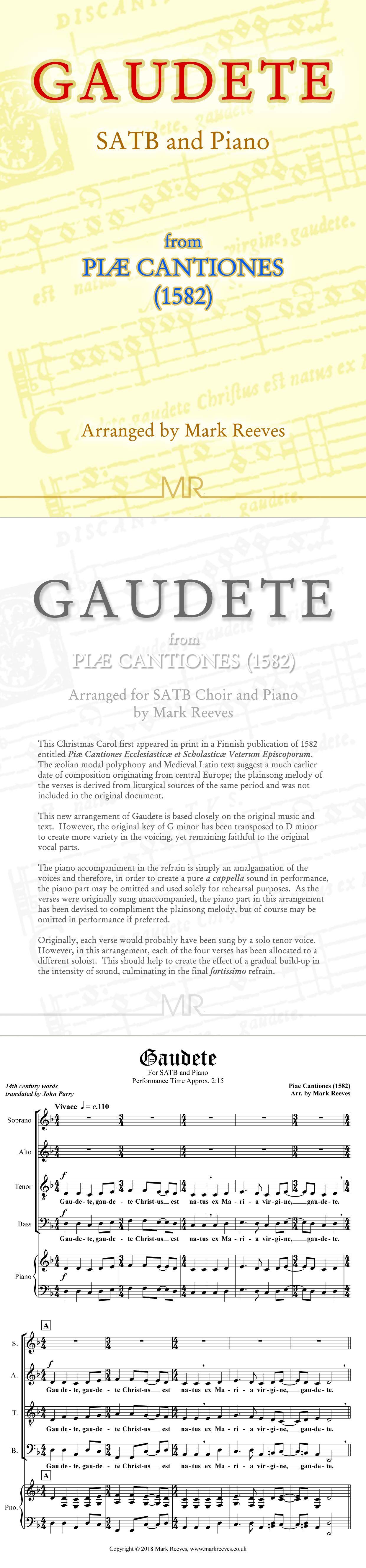 Gaudete For Satb Choir