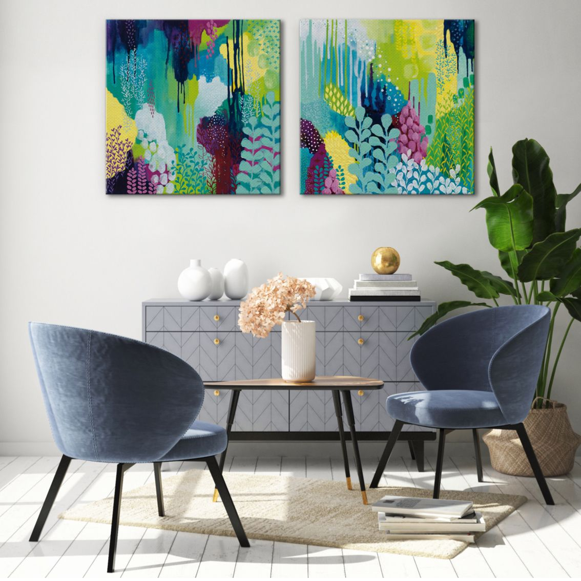 Pop Of Color Art For Your Walls Wall Decor Interiors Large Art Prints Landscape Wall Art Blue Abstract Art