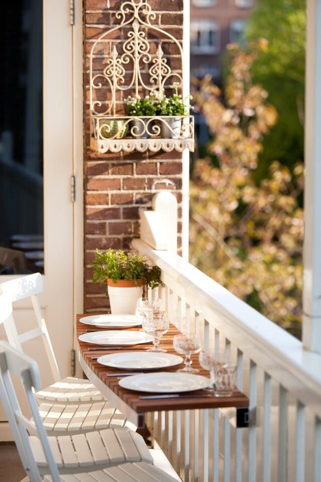 balcony pinterest balcon petit balcon et maison. Black Bedroom Furniture Sets. Home Design Ideas