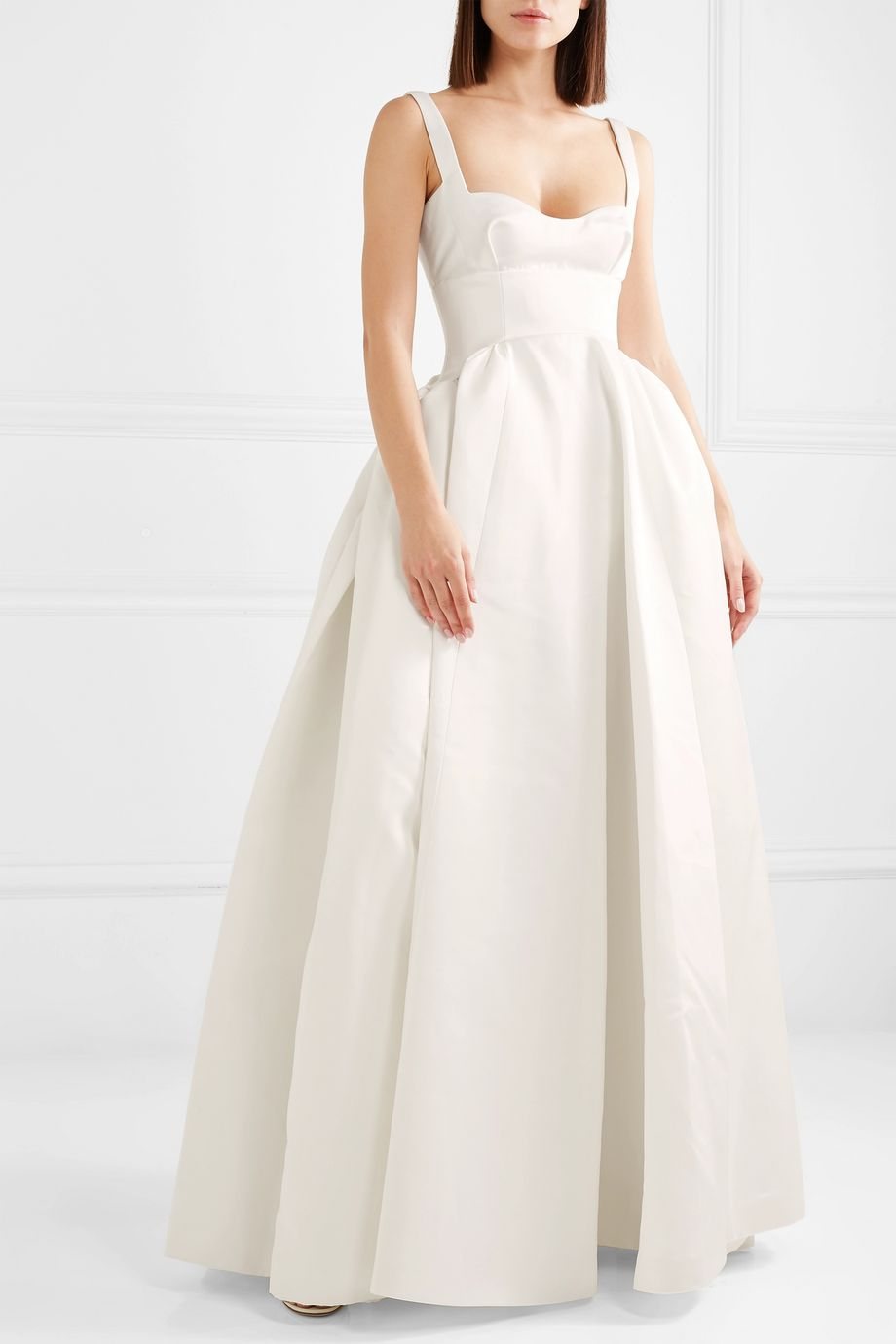 White Diamond duchesse-satin gown | Emilia Wickstead