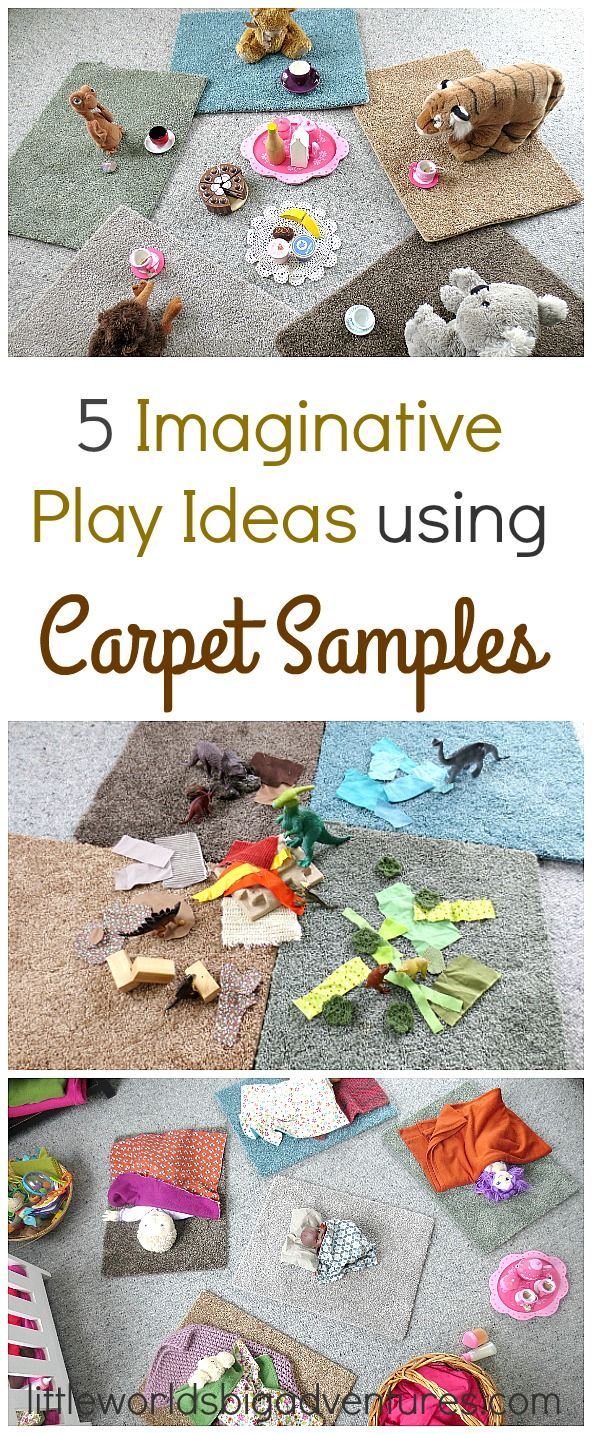Imaginative Play Ideas Using Carpet Samples | Little Worlds Big Adventures