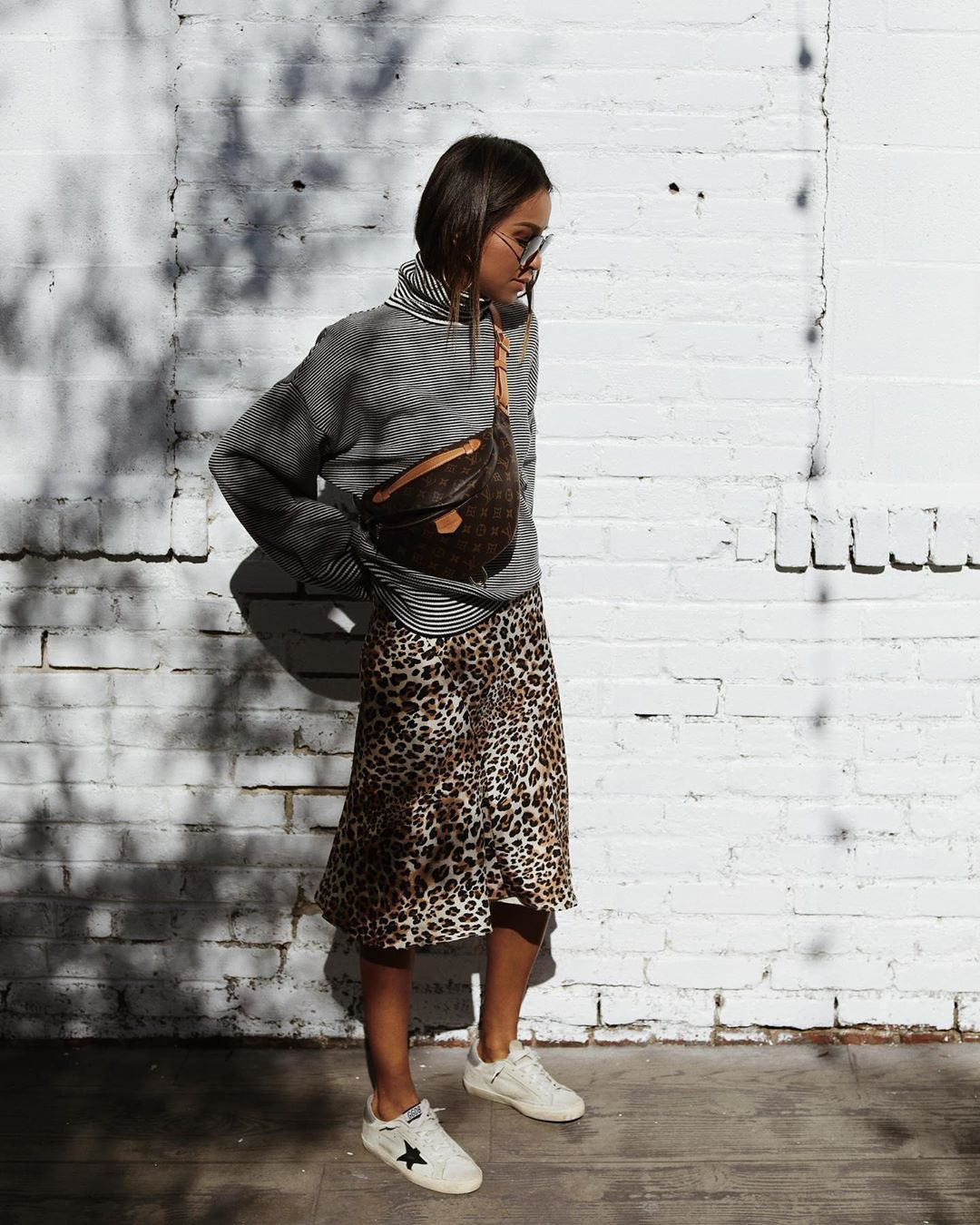"""Photo of JULIE SARIÑANA on Instagram: """"Love me some mix printing 🐾 @majorelle_collection skirt @revolve #ad"""""""