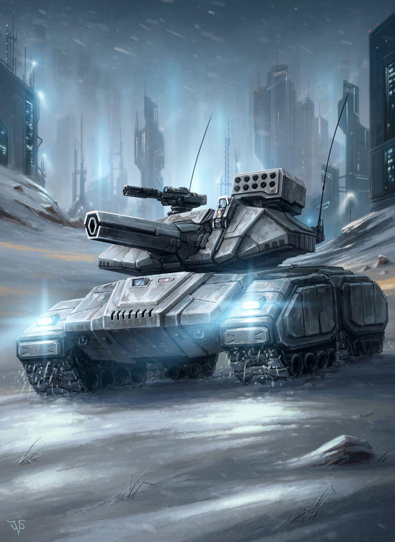 Battle tank by on