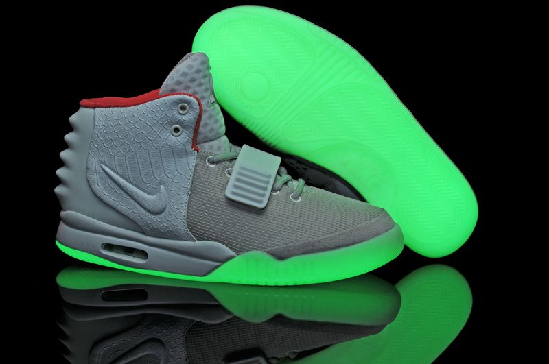Glow In The Dark Nike Air Yeezy 2 Grey White Shoes