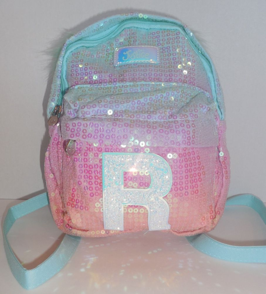 """Justice Ombre Initial /""""A/"""" Mini Backpack New with Tags FREE SHIPPING"""