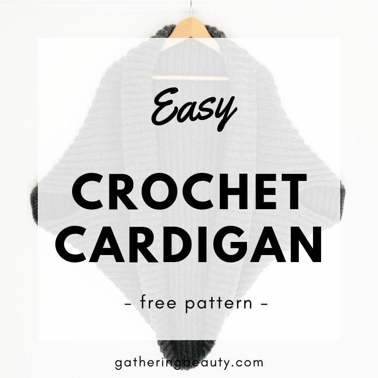 Photo of EASY CROCHET CARDIGAN – FREE PATTERN