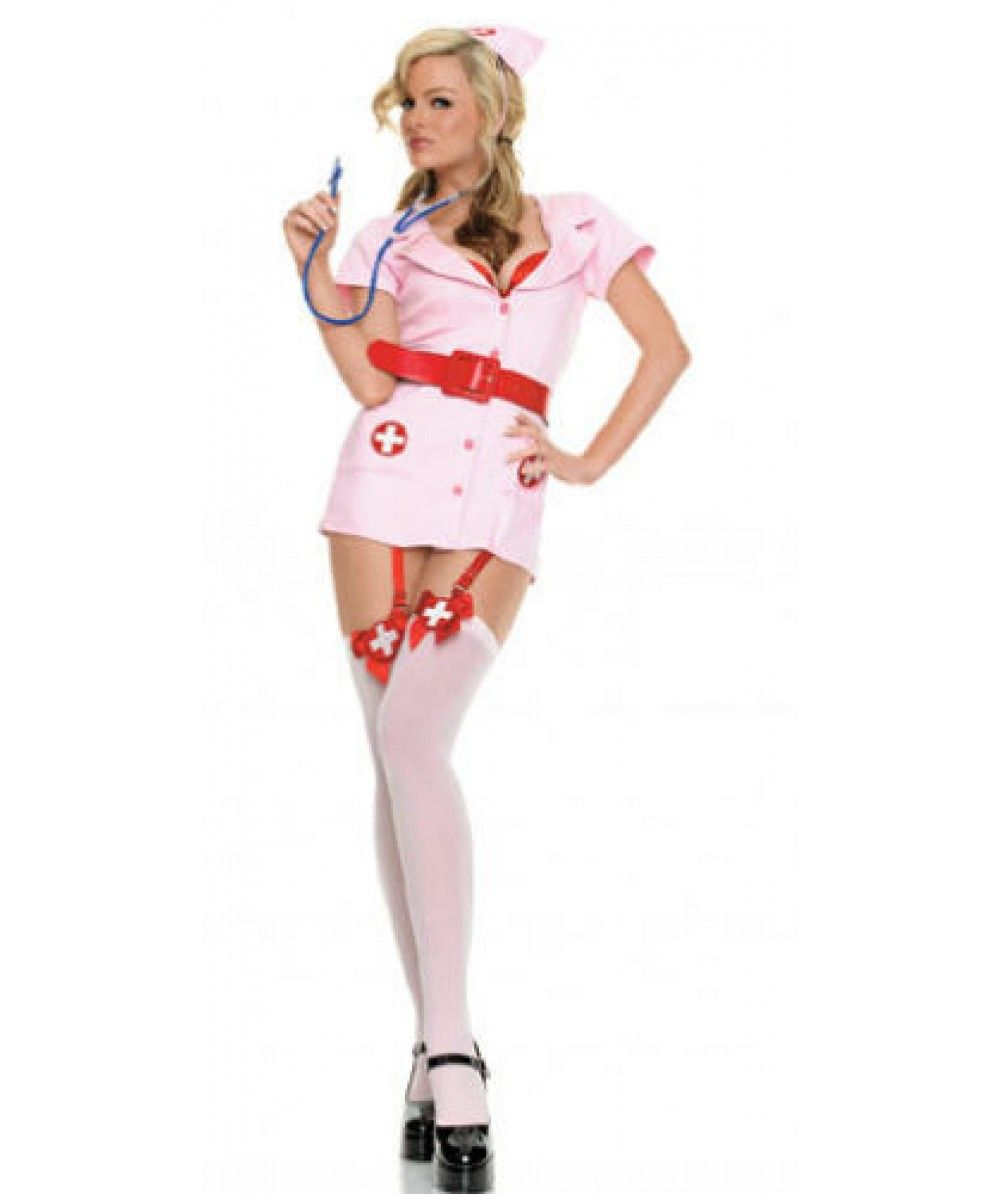 f82a61972d057 Ladies Sexy Naughty Nurse Fancy Dress Fun Party Hen Costume Outfit £14.49