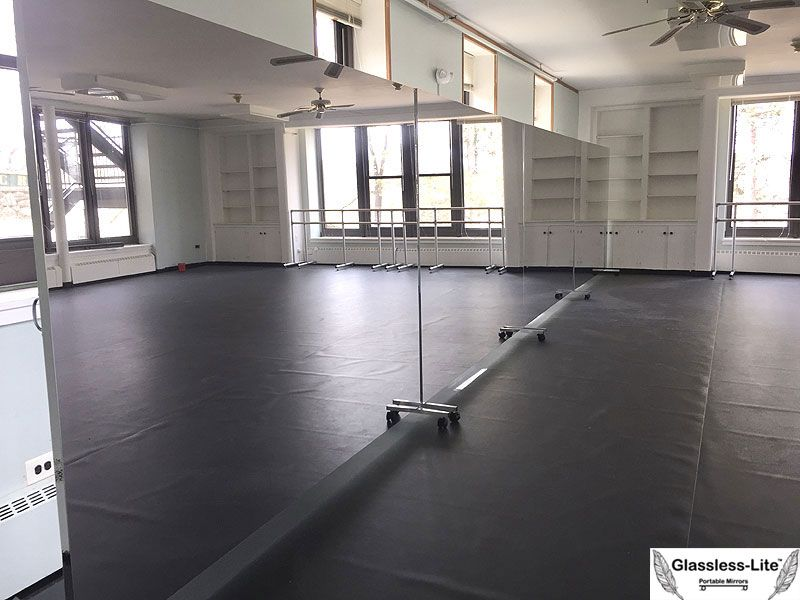 Buy Glassless Dance Mirrors On Wheels Portable And Rollable For Dance Ballet And Theater Production Dance Mirrors Home Dance Studio Dance Rooms
