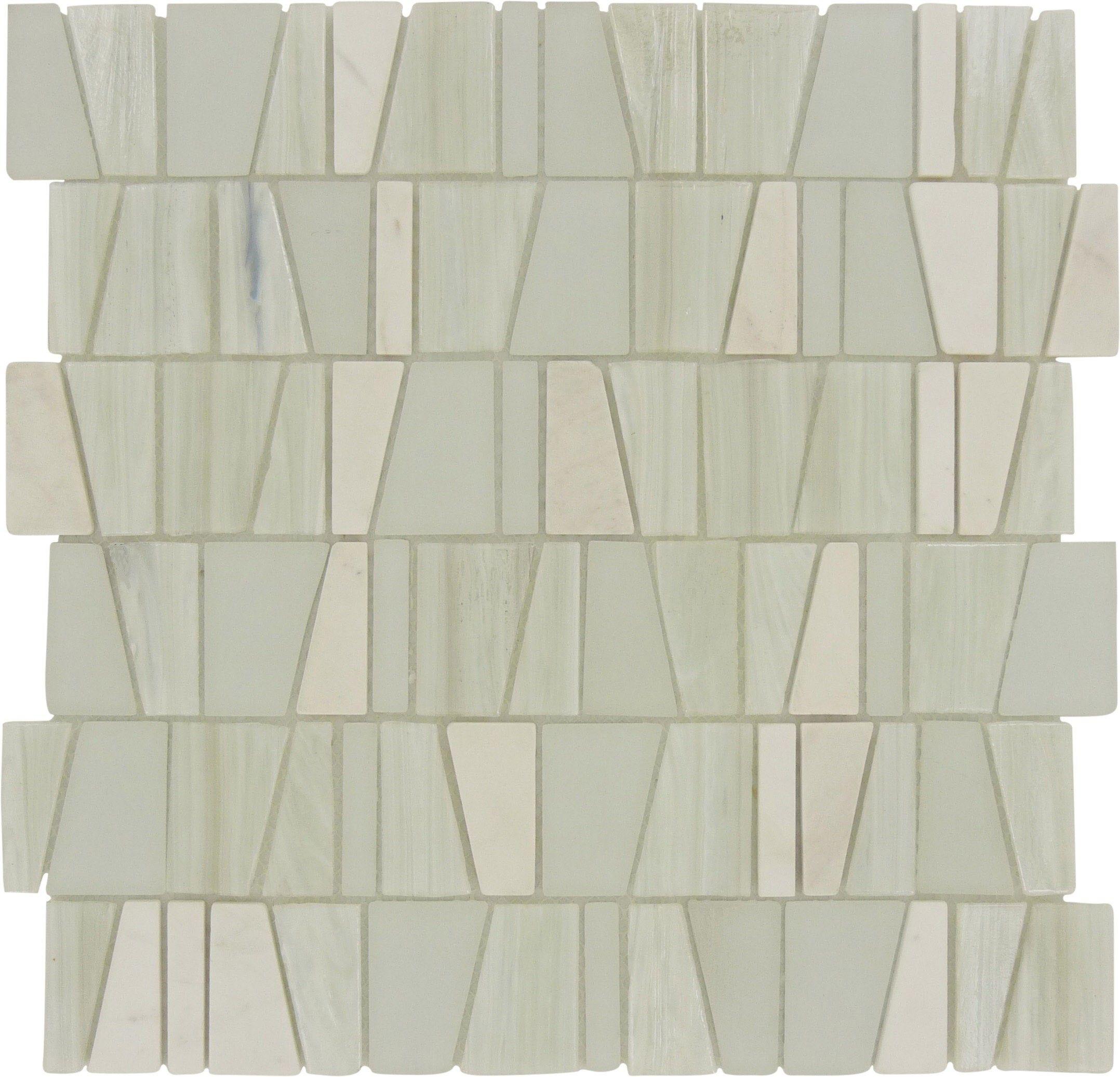"Sheet Size: 12 3/8"" X 11 3/4"" Tile Size: Variable Tile"