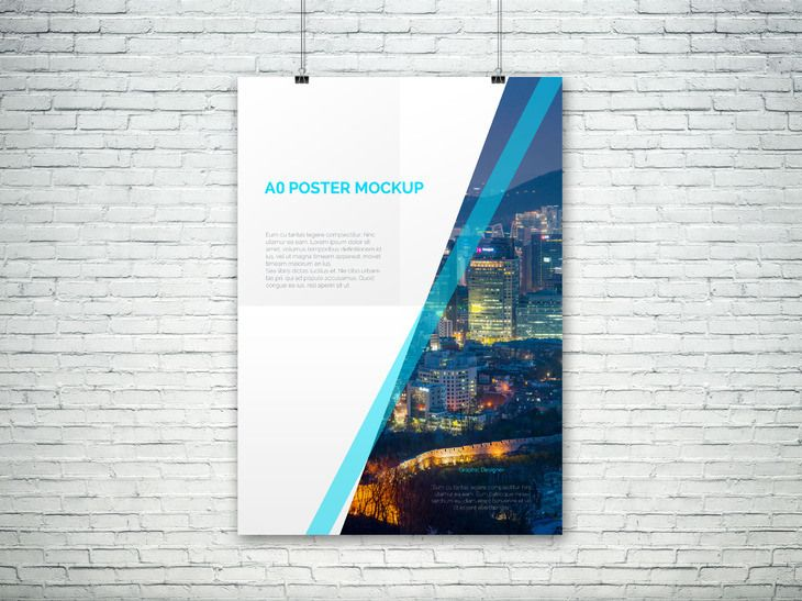 a0 psd poster mockup, #display, #free, #graphic #design, #mockup, Presentation templates