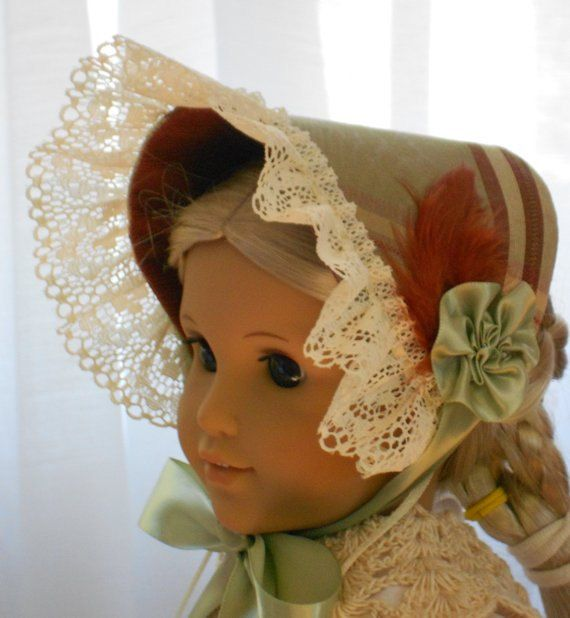American Girl Doll Clothes - Doll Hat - Bonnet of the mid 1800's #dollhats