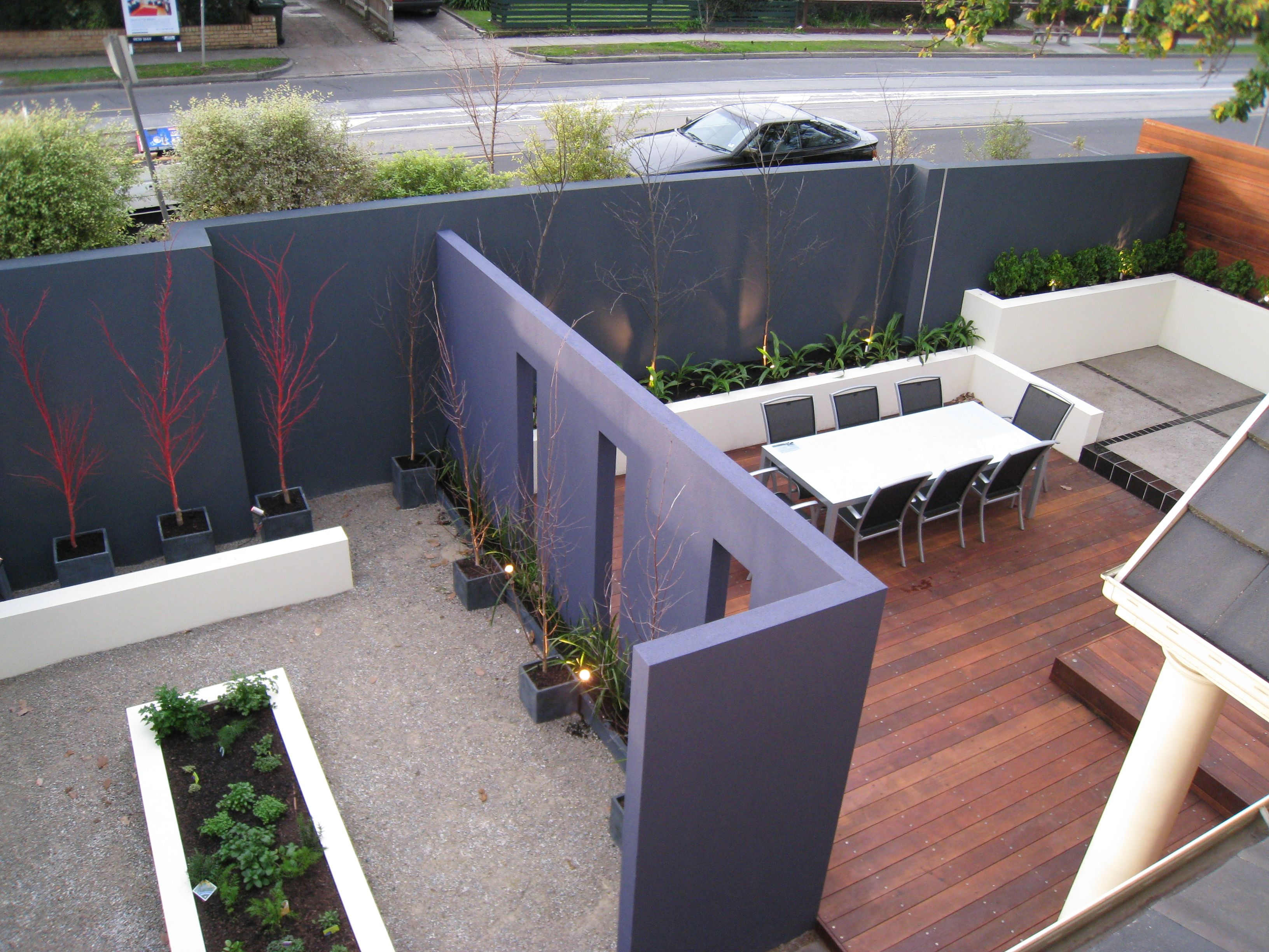 Landscape With Feature Wall Gardens Garden Features Garden Outdoor