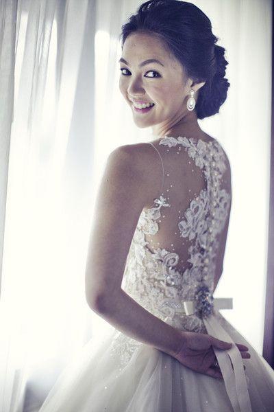 espalda de vestido de novia encaje transparente - Buscar con Google ...