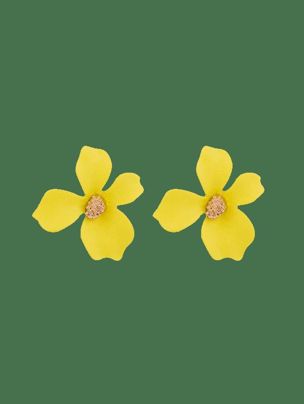 Spray Lacquer Flower Stud Earrings ,