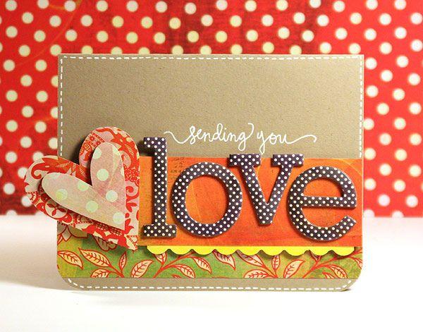 sending you love  valentine cards handmade cards