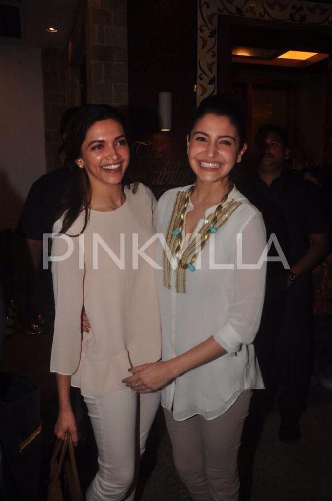 Hot Anushka Gets A Tight Kiss From Deepika Deepika Padukone