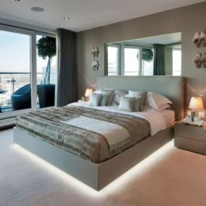 led lighting for bedroom. modern bedroom ideas with floating bed and underbed led lighting led for