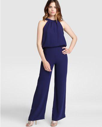 29d08c4ef229 Mono largo de mujer Zendra El Corte Ingles en azul marino | Jumpsuit ...