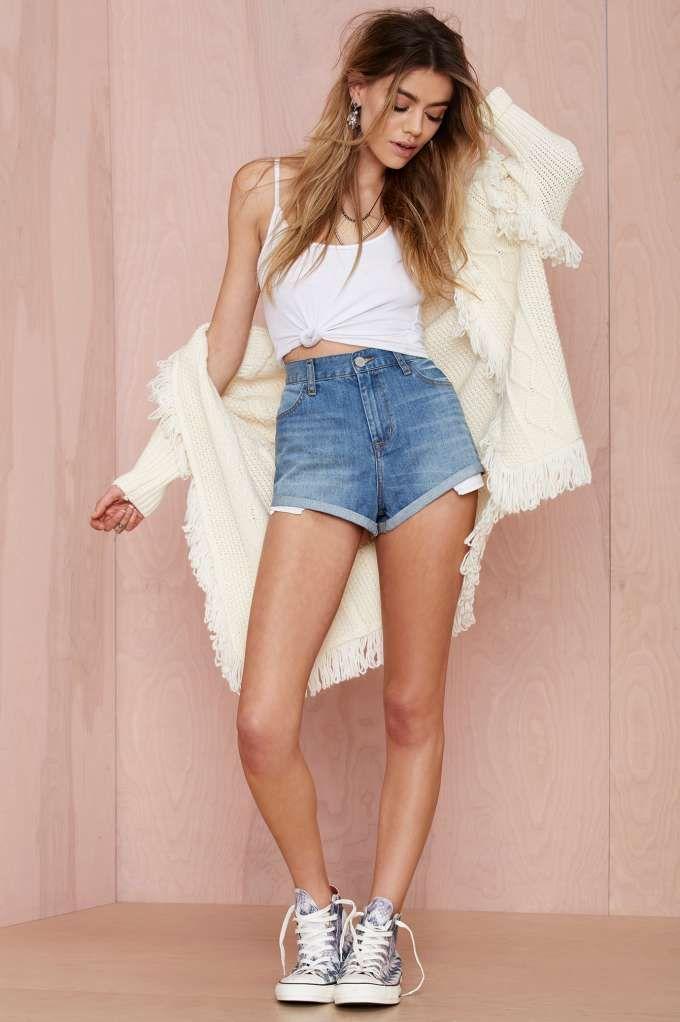 Denim shorts Milf