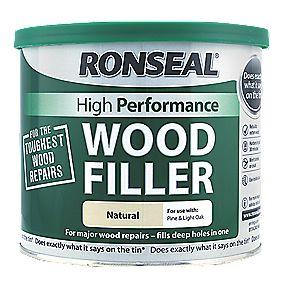 Ronseal High Performance Wood Filler Natural 550g In 2020 Wood Repair Wood Interior Exterior