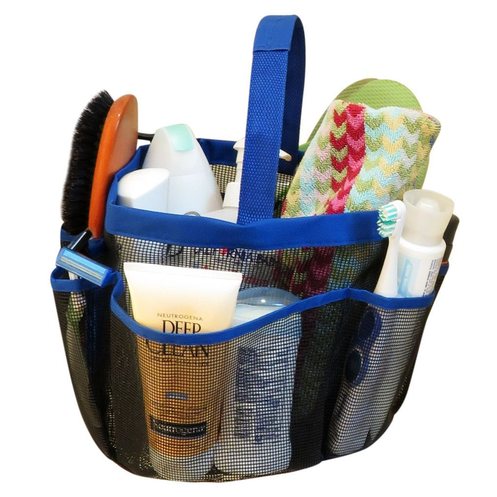 Evelots Travel Toiletry Bag, Portable Shower Caddy, Travel Kit ...