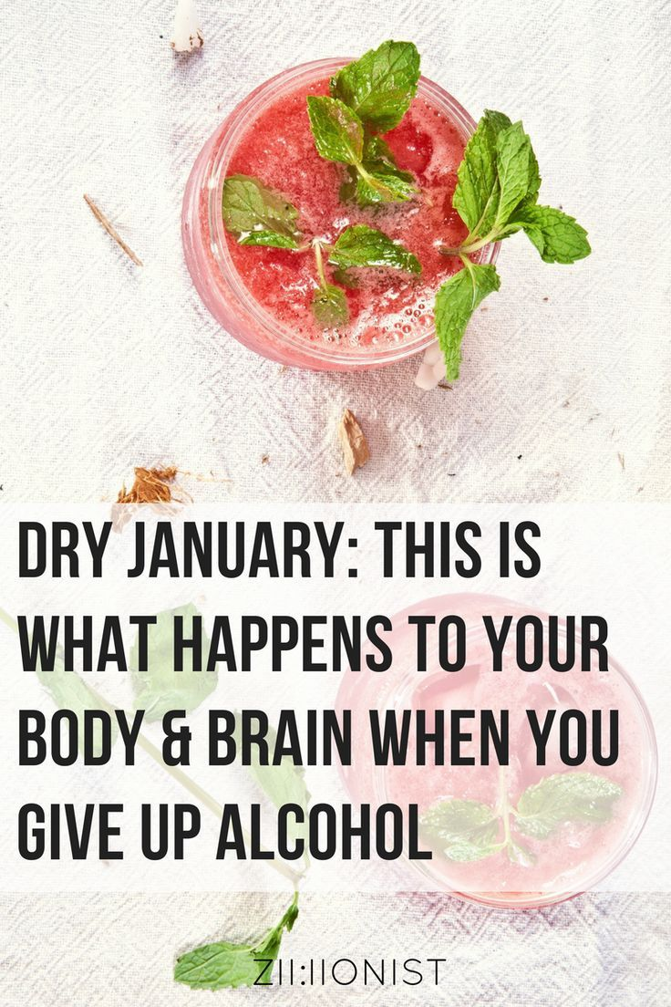 Dry january this is what happens to your body brain