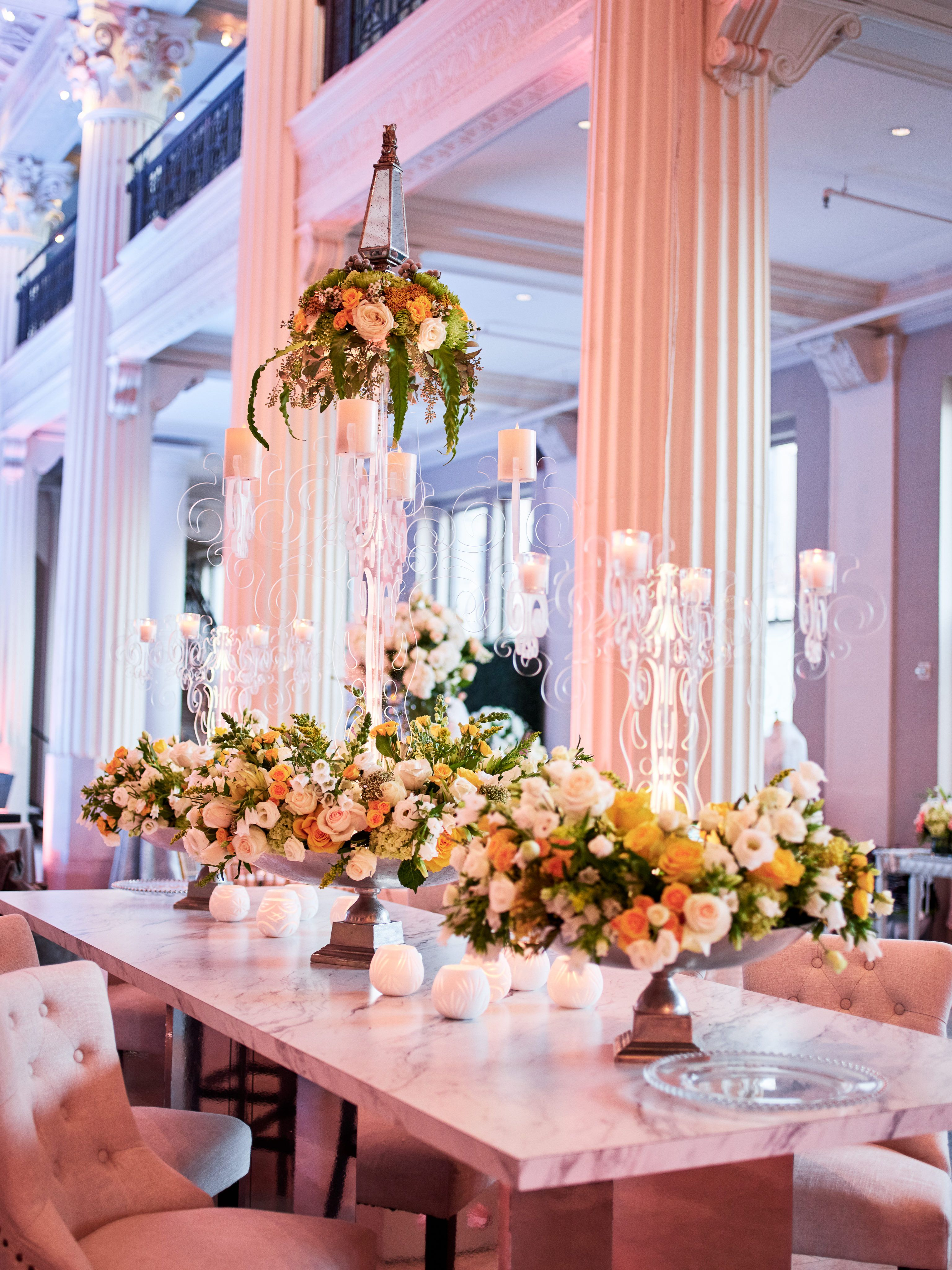 Let It Fly Events Rentals Florist Weddings In Houston Wedding Design Decoration Candles Reception Wedding Table Decorations Centerpieces