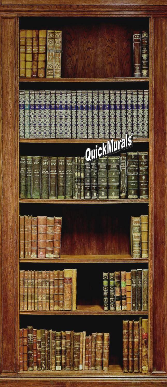 Library Books Book Case Wall Art Wall Mural Self Adhesive Vinyl Decal Wallpaper