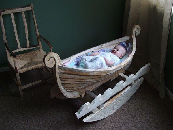 Cunas con las que todo bebé merece ser recibido | Bote, Cunas de ...