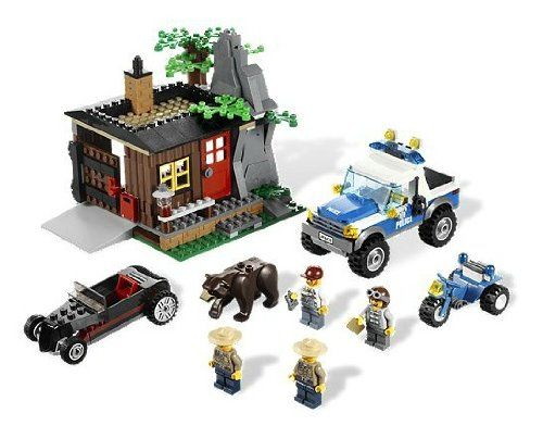 Amazon Com Lego City Exclusive Set 4438 Robbers Hideout Toy Interlocking Building Sets Toys Games Lego City Lego City Sets Lego City Police
