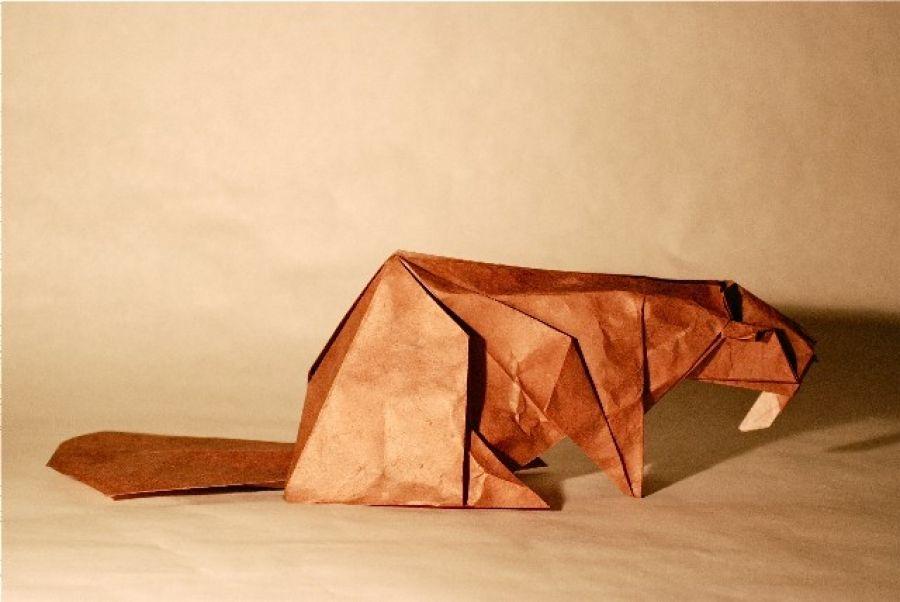 Type 1 - beaver | eneagami animals - final | Origami, Paper