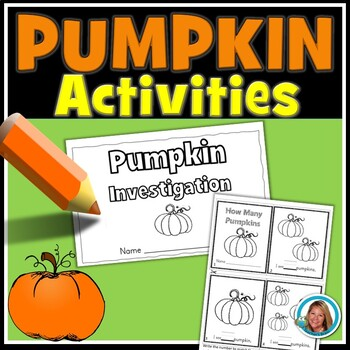 Pumpkin Activities Kindergarten and First Grade