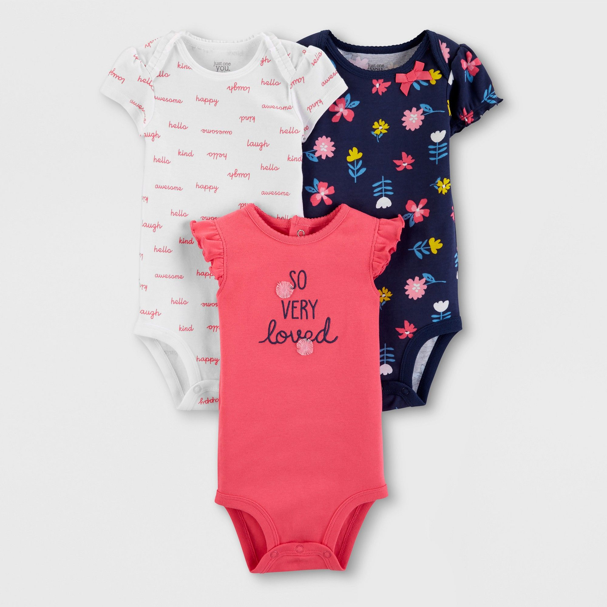 I/'m Going To Be a Big Sister Pink Detail Elephants Baby Grow Gro BodySuit Vest