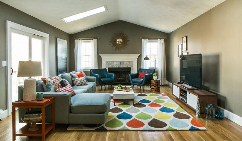 25 Bright Midcentury Modern Living Room Designs