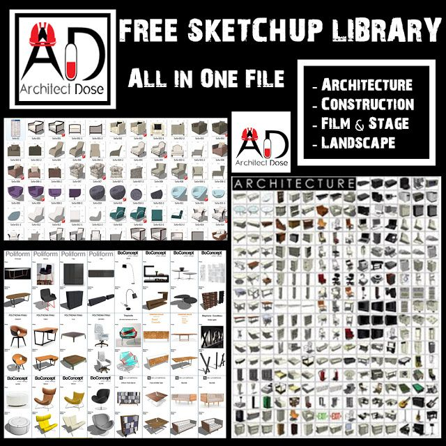 Great Sketchup Library Collection In This File You Will Find a Great