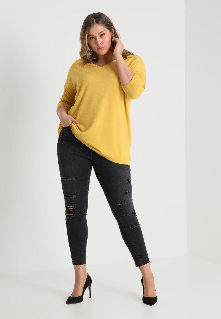 Bella v neck jumper maglione mid yellow autumnwinter inspo